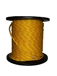 HDPE Monofilament Polypropylene Rope Yellow with 2 Blue Tracer 3/8