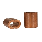 Cooper Sleeve for Wire Rope Cable 3/16